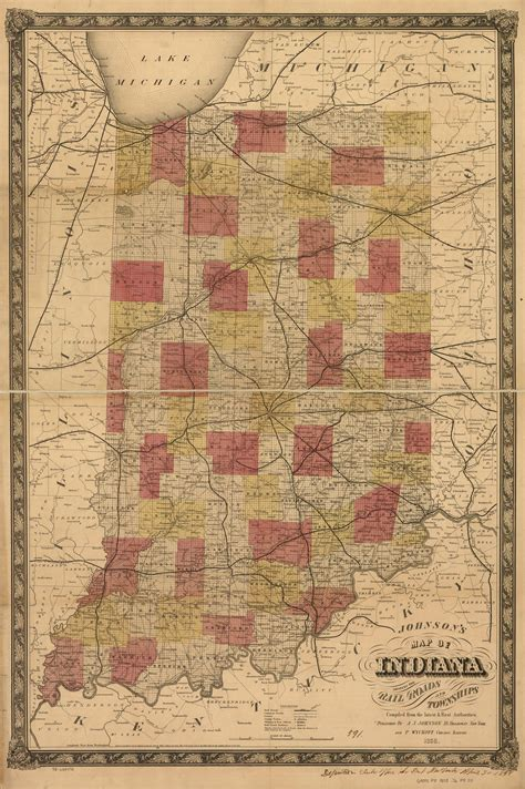Railroad Maps, 1828 to 1900, Available Online, Indiana