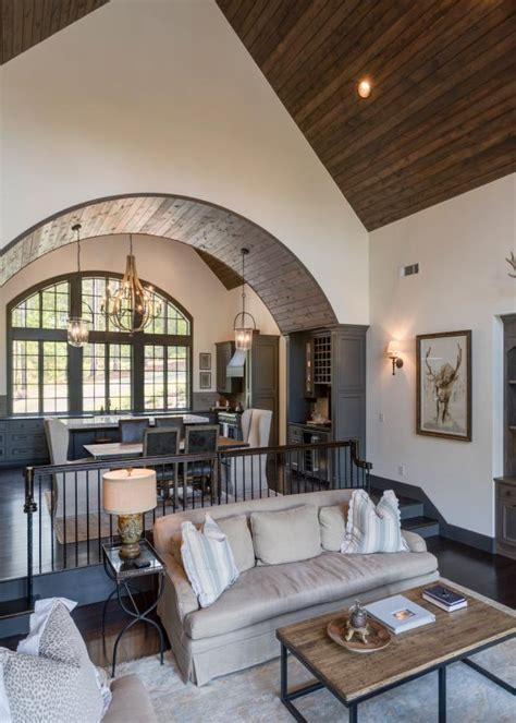 Great Room With Wood Paneled Ceiling   HGTV