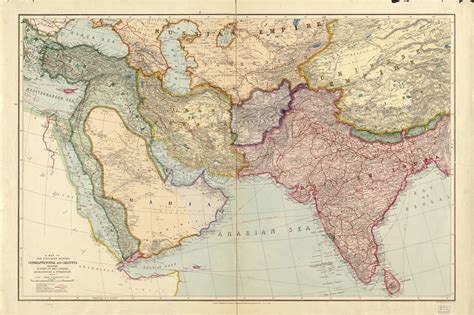 Map, 1910 to 1919, Middle East | Library of Congress