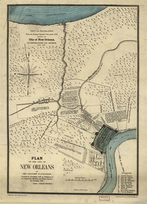 Map, Available Online, 1800 to 1899, Louisiana, New